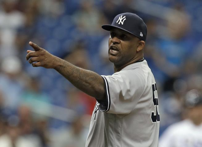 CC Sabathia gets ejected on goal  pitch, loses bonus