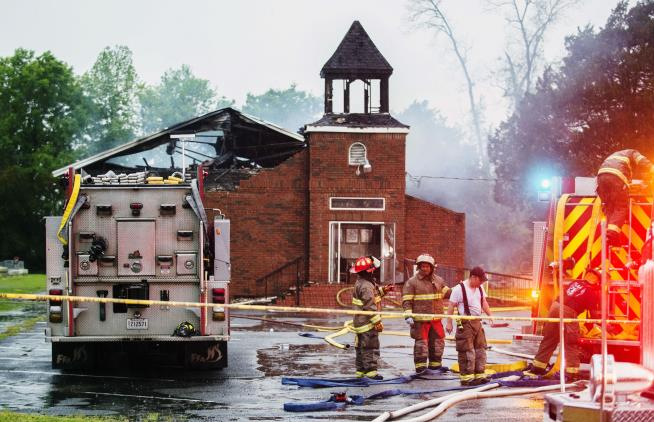 Federal Bureau of Investigation called in to investigate fires at three black churches in Louisiana