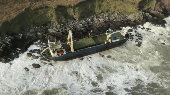 Long abandoned ship found off the coast of Ireland