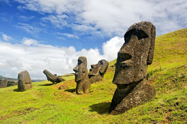 One of Easter Island's ancient sacred statues destroyed in accident
