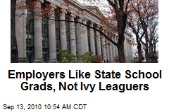 State Schools Get More Love From Employers