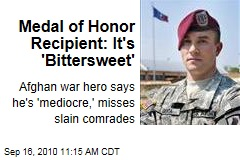 Medal of Honor Recipient: It's 'Bittersweet'