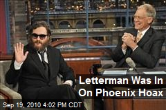 Letterman Was In On Phoenix Hoax