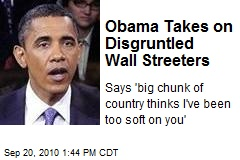 Obama Takes on Disgruntled Wall Streeters