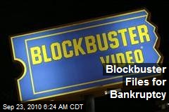 Blockbuster Files for Bankruptcy