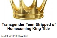 Oakleigh Reed: Transgender Teen Stripped of Homecoming King Title