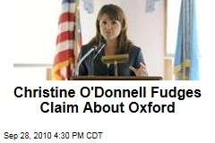 Christine O'Donnell Fudges Claim About Oxford