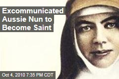 "An actual saint may be ""canonised"""