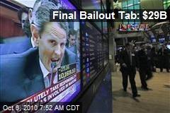 Final Bailout Tab: $29B