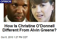 How Is Christine O'Donnell Different From Alvin Greene?