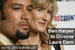Ben Harper to Divorce Laura Dern