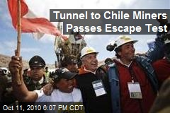 Tunnel to Chile Miners Passes Escape Test
