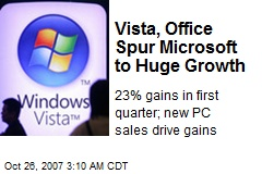 Vista, Office Spur Microsoft to Huge Growth