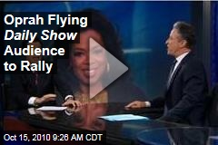 Oprah Flying Daily Show Audience to Rally