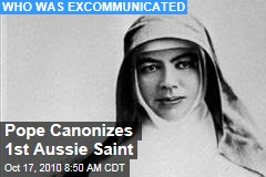 Pope Canonizes 1st Aussie Saint