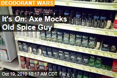 Old Spice Man Vs. Axe Deodorant in Billboard Battle