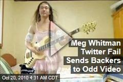 Meg Whitman Tweet Snafu Sends Backers to Bizarre Video