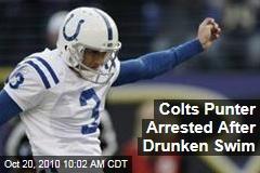 Colts Punter Arrested After Drunken Swim