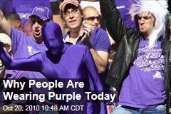 Start Wearing Purple - Oct. 20 is LGBT Spirit Day