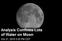 Analysis Confirms Lots of Water on Moon