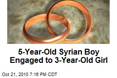 5-Year-Old Syrian Boy Engaged to 3-Year-Old Girl