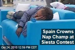 Napping Champ Crowned at Siesta Contest