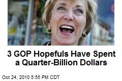3 GOP Hopefuls Have Spent a Quarter-Billion Dollars