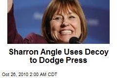 Sharron Angle Uses Decoy to Dodge Press