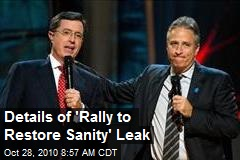 Details of 'Rally to Restore Sanity' Leak