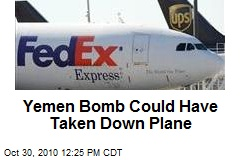 Yemen Bomb Could Have Taken Down Plane