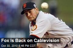 Fox Is Back on Cablevision