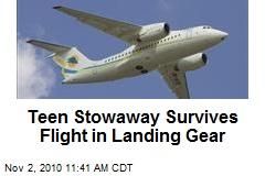 Teen Stowaway Survives Flight in Landing Gear