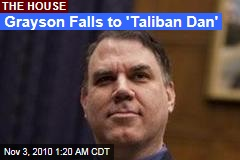 Alan Grayson Loses Florida Race to 'Taliban Dan'