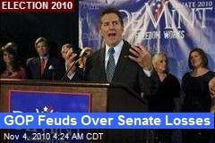GOP Feuds Over Senate Losses