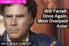 Will Ferrell: Once Again, Most Overpaid Actor