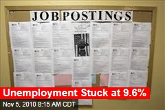 Unemployment Stuck at 9.6%