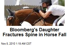 Mayor Michael Bloomberg's Daughter Fractures Spine in Horse Accident