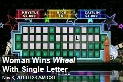 Woman Wins Wheel With Single Letter