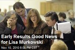 Early Results Good News for Lisa Murkowski