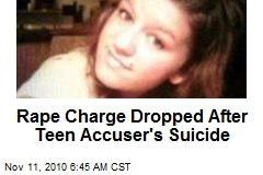 Rape Rap Dropped After Teen Accuser's Suicide