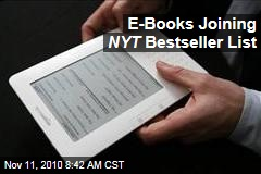 E-Books Joining NYT Bestseller List