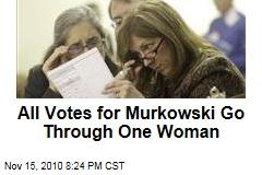 All Votes for Murkowski Go Through One Woman