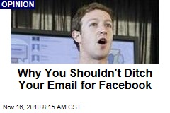 Facebook Messages: Why You Shouldn't Ditch Your Email