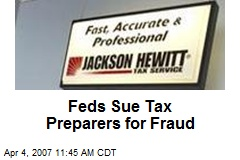 Feds Sue Tax Preparers for Fraud
