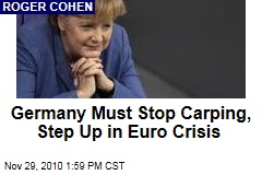 Germany Must Step Up in Euro Crisis