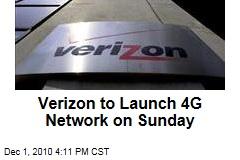 Verizon to Launch 4G Network on Sunday