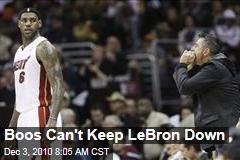 Boos Can't Keep LeBron Down