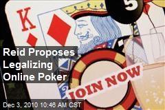 Reid Proposes Legalizing Online Poker
