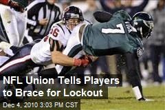 NFL Union Tells Players to Brace for Lockout