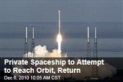 Private Spaceship to Attempt to Reach Orbit, Return